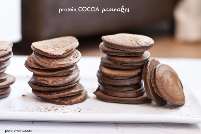two cocoa easy pancakes