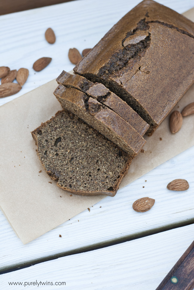 almond butter nut bread loaf