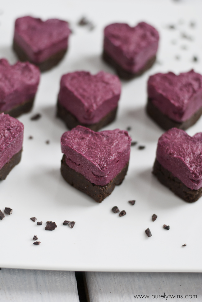 beet fudge protein hearts recipe purelytwins