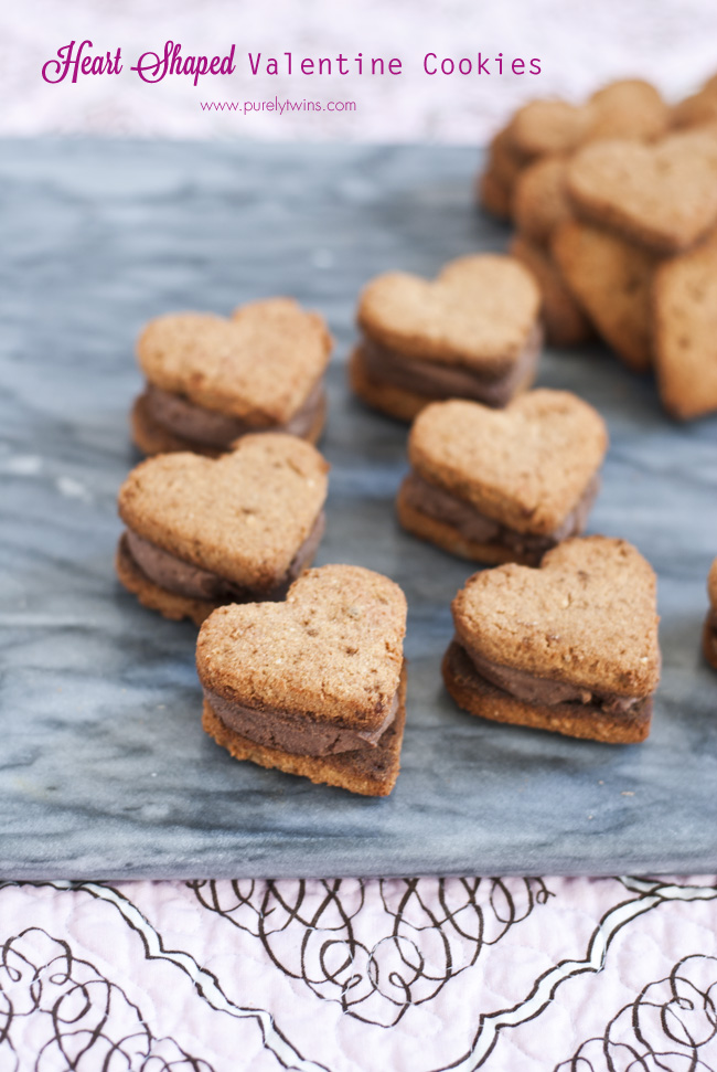 coconut flour valentine cookie sandwiches