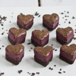beet fudge chocolate protein hearts