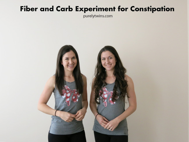 fiber and carb experiment for constipation