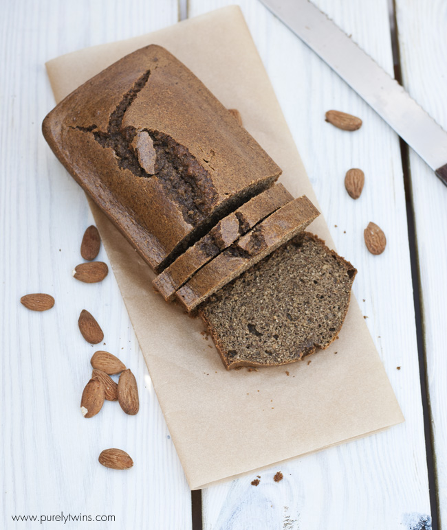 grain free paleo almond butter bread