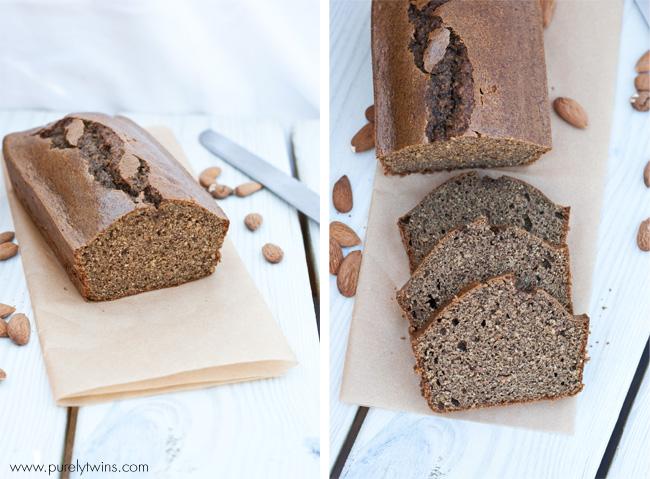 healthy almond butter bread