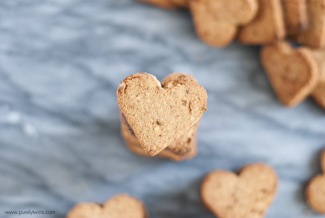 heart shaped coconut flour cookies