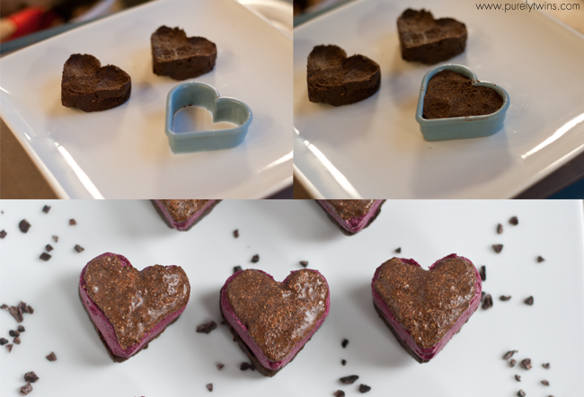 making fudge protein hearts