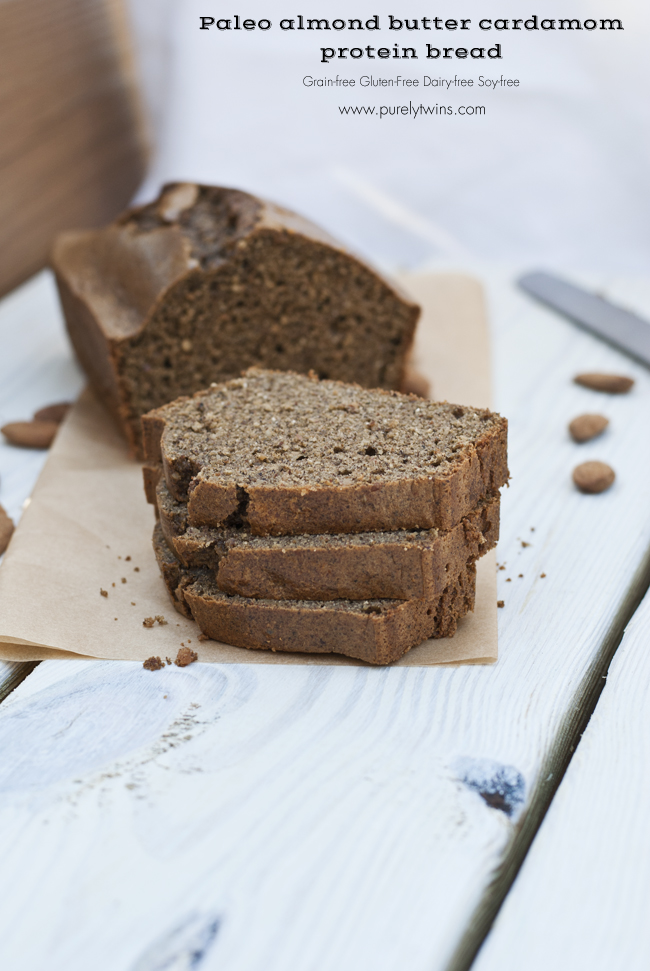 paleo almond butter bread grain free gluten free dairy free loaf purelytwins