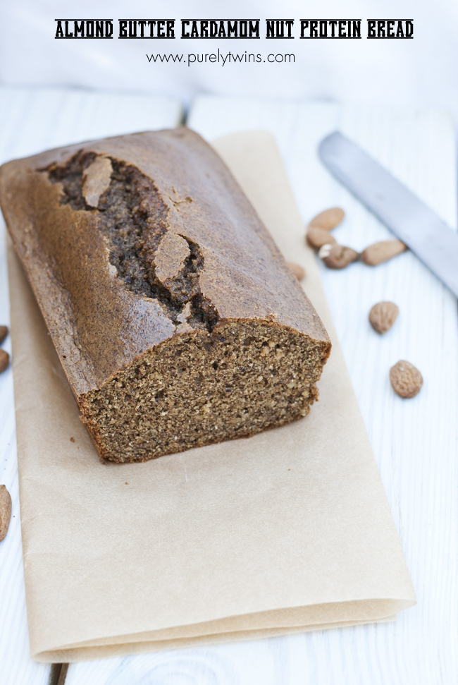 paleo grain free almond butter nut bread loaf made protein purelytwins
