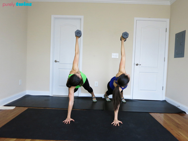 plank twist purely training workout