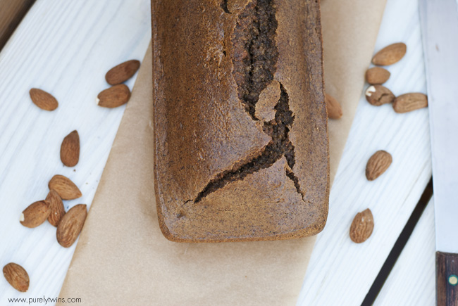 paleo almond butter cardamom protein bread