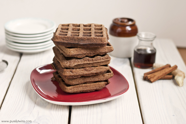 ... gingerbread waffles. Waffles that are grain-free and gluten-free. Made