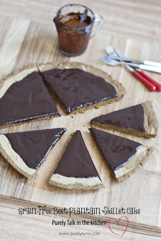 grain free gluten free beet plantain skillet cake recipe purelytwins