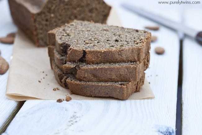 slices of almond butter bread