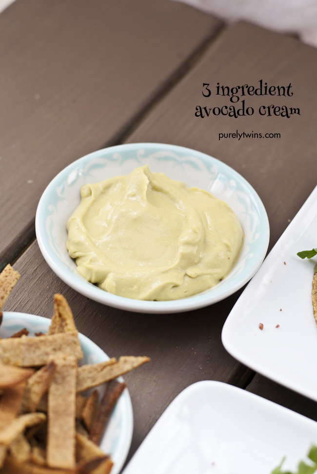 3 ingredient easy dairy-free avocado cream purelytwins
