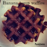 change the way you think + banana protein waffles