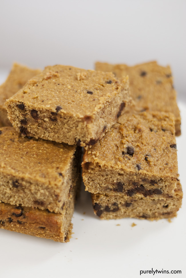 Peanut Butter Chocolate Chip Blondies Recipe — Dishmaps