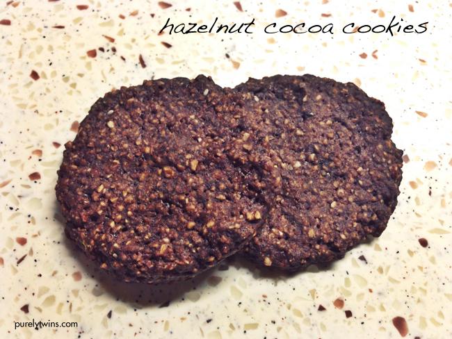 cocoa hazelnut vegan cookies