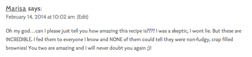 flourless brownie comment luv
