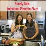 3 ingredient individual pizza. Plantain pizza!