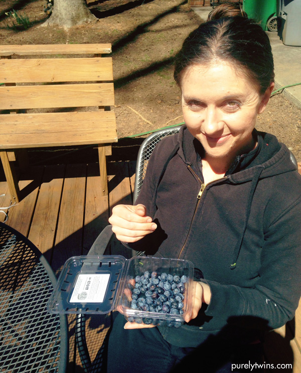 lori eating blueberries