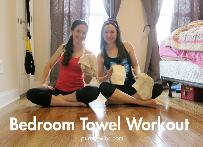 purely twins bedroom ab towel workout