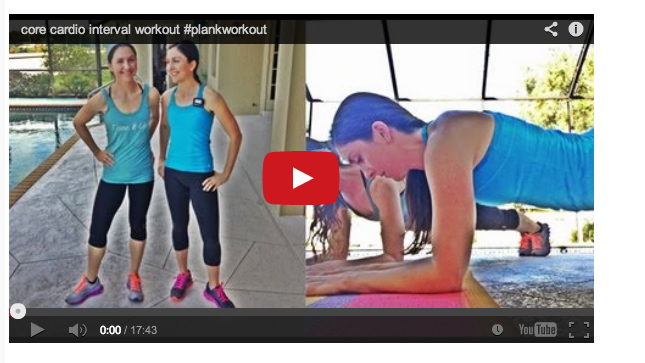12 minute core cardio plank workout