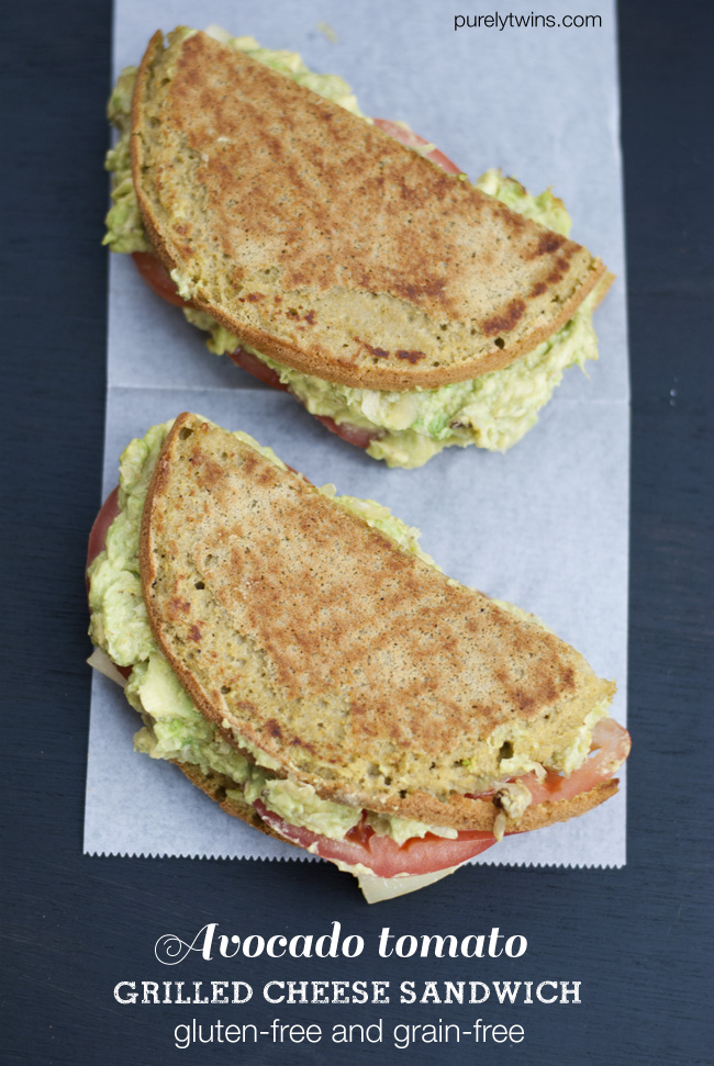 gluten-free grain-free grilled cheese avocado bread