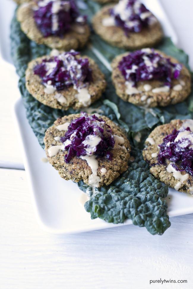 gluten free grain free veggie vegan kale plantain burger via purelytwins