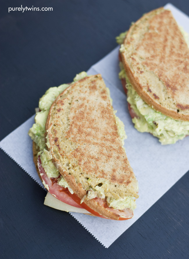 Grown-up avocado tomato grilled cheese sandwich for one!