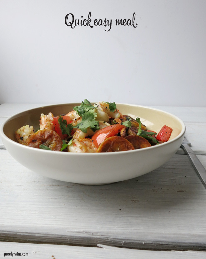 healthy quick easy meal for one purelytwins