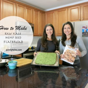 how to make raw no flour grain free gluten free kale hemp seed flatbread with @purelytwins