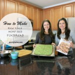 Raw kale hemp seed flatbread . Vegan bread recipe.
