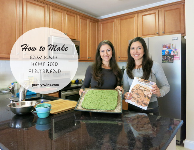 How to make raw kale hemp seed flatbread plus giveaway