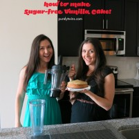 no sugar vanilla cake recipe plus VITAMIX GIVEAWAY