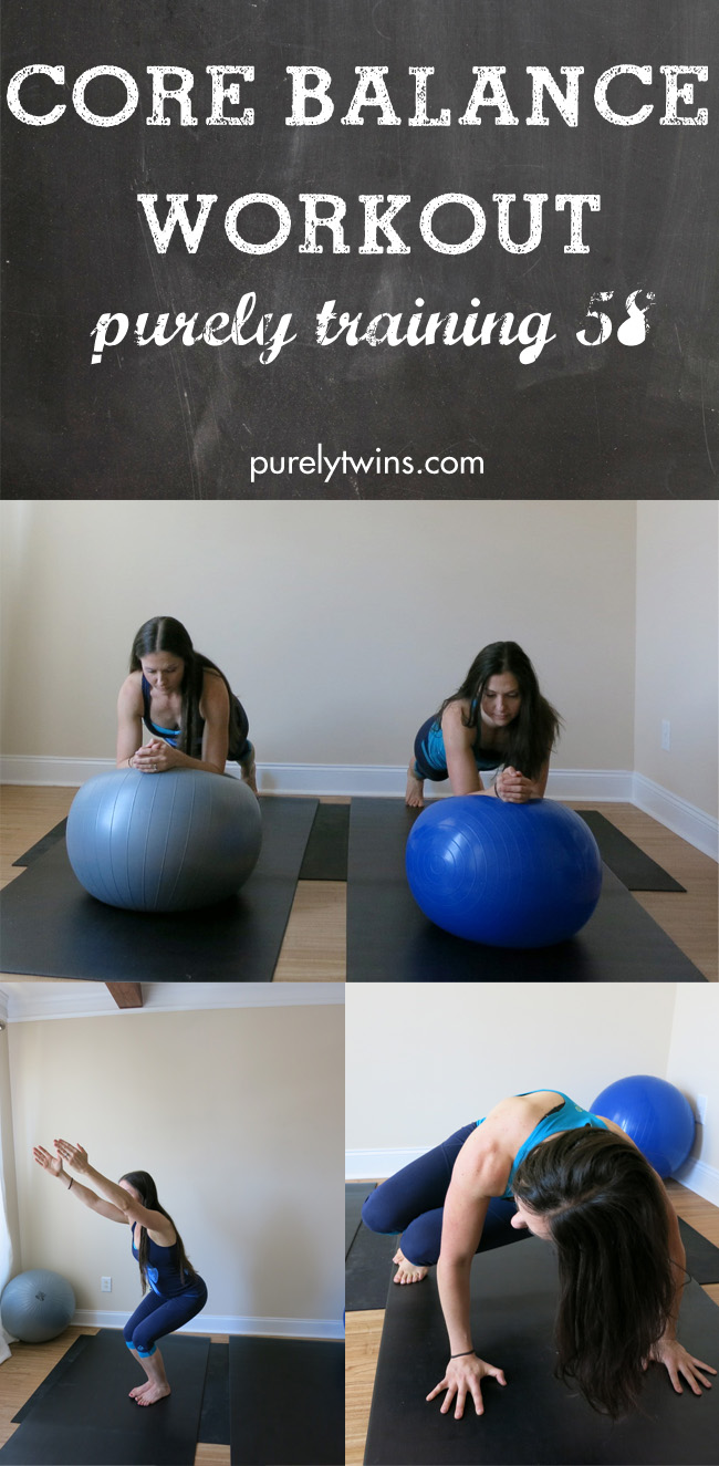 interval core balance stability ball workout purely training 58 purelytwins