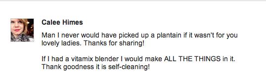 plantain comment