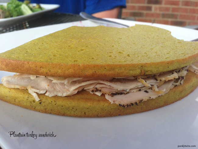 plantain turkey sandwich