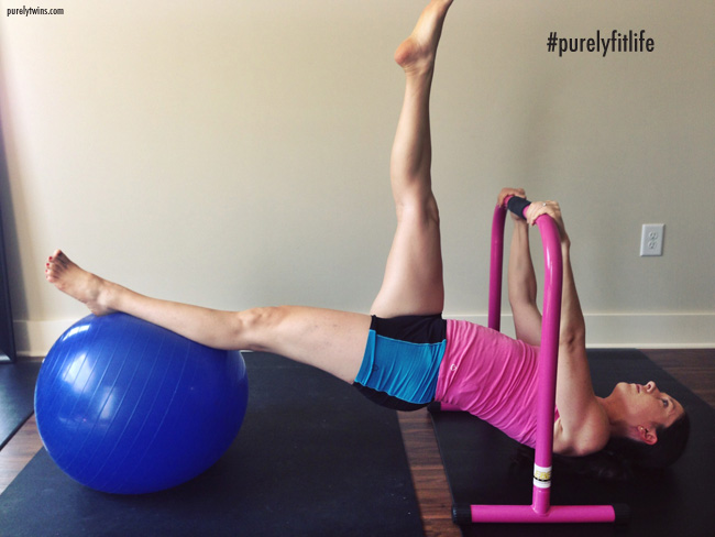 pregnancy workout working on stability for strong core