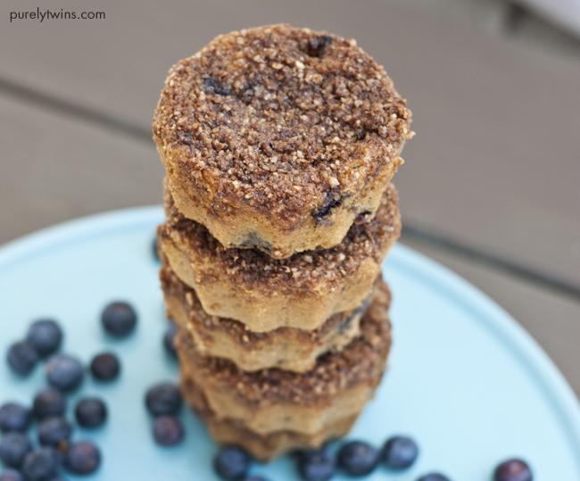 grain free gluten free blueberry streusel cake
