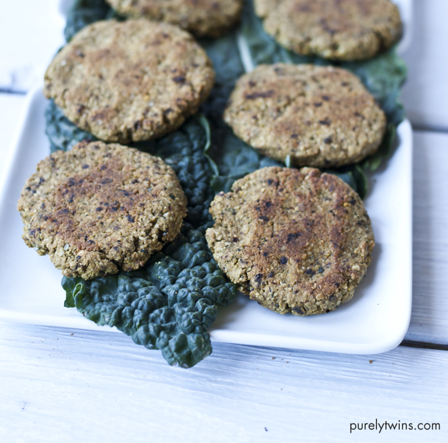 Kale sun-dried tomato plantain veggie burger