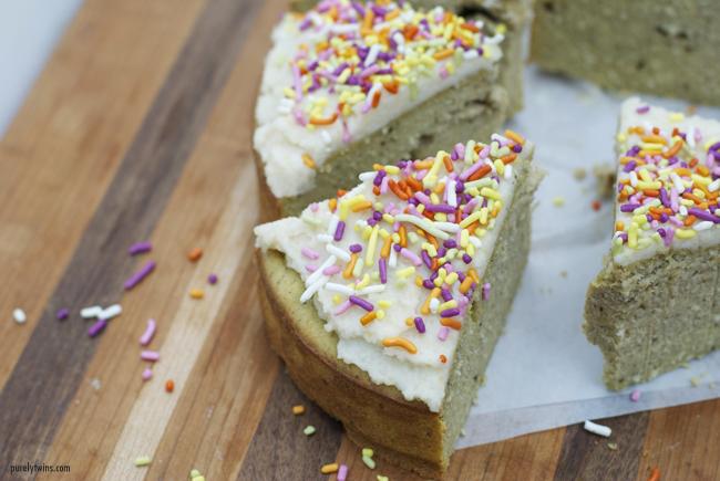 Sugar-free grain-free vanilla cake
