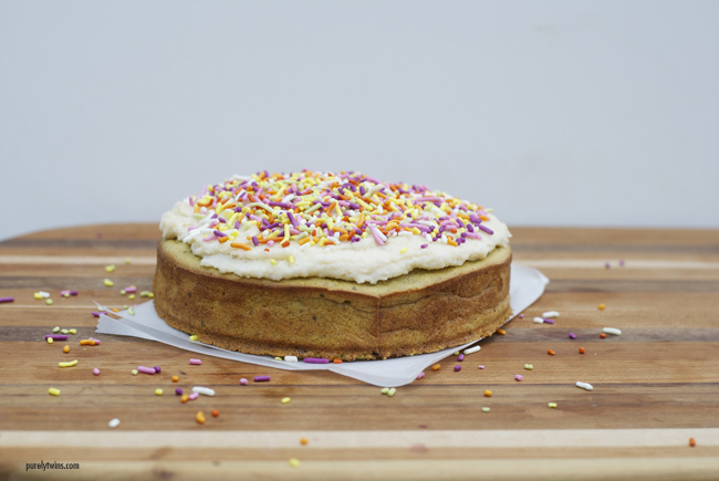 simple quick healthy grain free vanilla cake via purelytwins