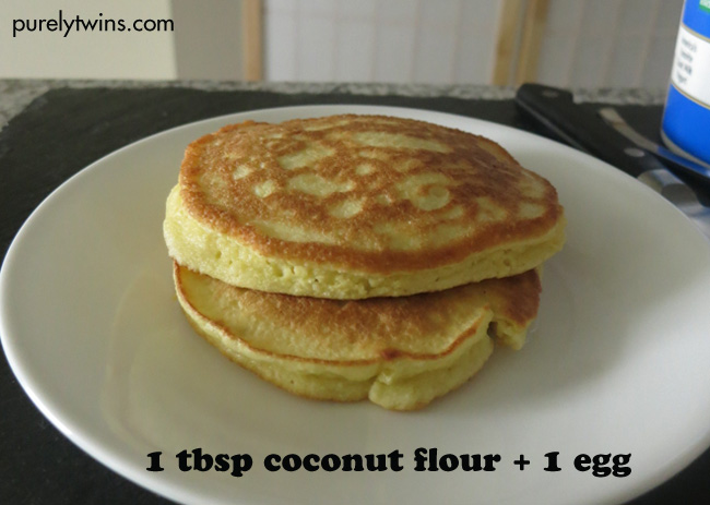 1 tbsp coconut flour 1 egg to make a pancake