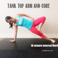 tank top arm core 16 minute interval workout