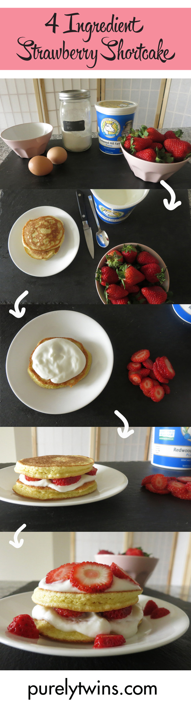 4 ingredient strawberry shortcake recipe purelytwins