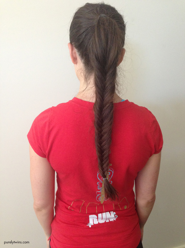 fish braid ponytail