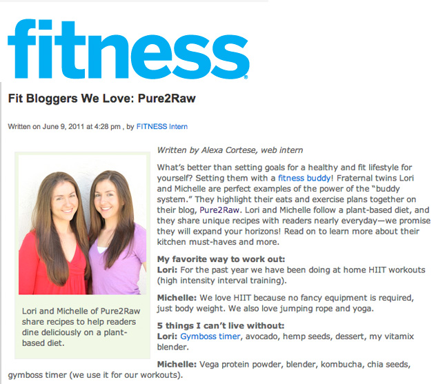 fitness magazine feature