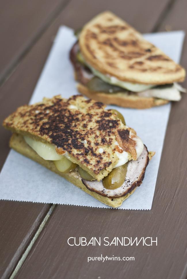grain free gluten free ham cheese pickle cuban sandwich purelytwins