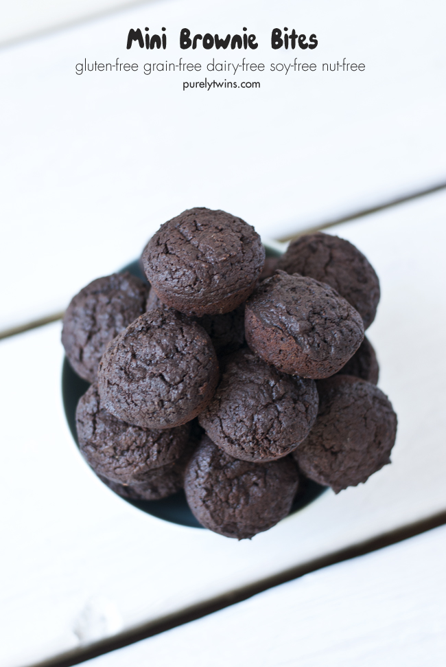 grain free protein chocolate two bite brownies purelytwins