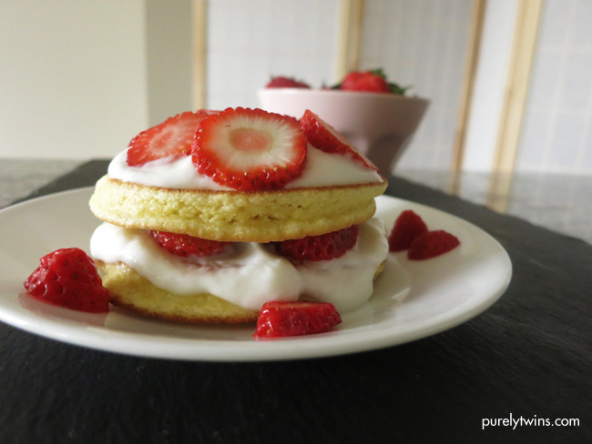 4 ingredient strawberry shortcake for one